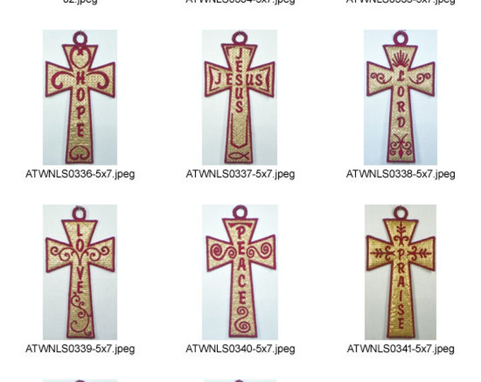 Mylar-Crosses-5x7. ( 11 Machine Embroidery Designs from ATW )