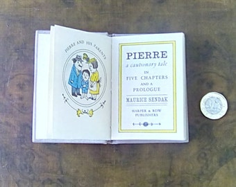 Vintage Miniature Maurice Sendak Book 'Pierre a Cautionary Tale'