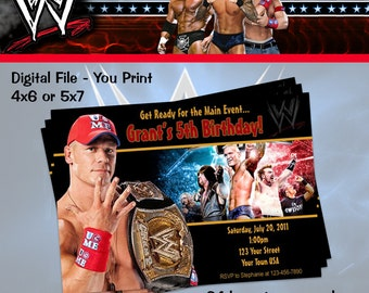 WWE Cena Wrestling  Invitation - You Print