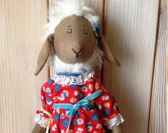 Lamb doll Lamb Interior textile toy Interior toy Interior lamb Textile toy Textile lamb Interior textile lamb toy