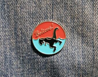 Believe - Loch Ness Rex Enamel Pin