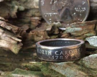 North Carolina quarter coin ring