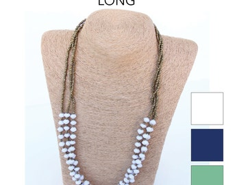 Micro Bead 3-Strand Necklace (Long)