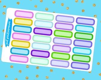 Cool Quarter Label Planner Stickers (R011)