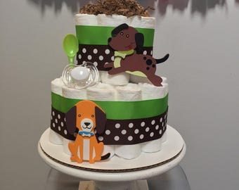 Mini Doggie Diaper Cake