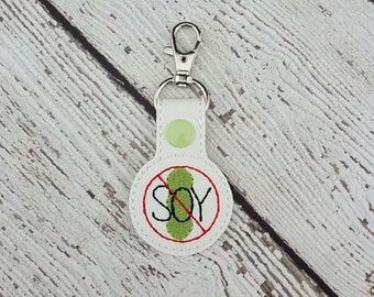 Soy Allergy Keychain/Zipper Pull