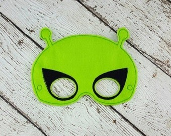 Alien Mask - Alien Costume - Aliens - UFO - Space Alien - Dress Up - Pretend Play
