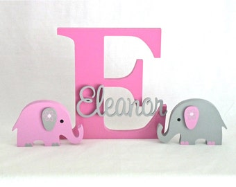 Wooden Letters Name Sign for kids - Nursery Letters - Personalised Nursery Wooden Wall and Door Letters - Lolly Pink