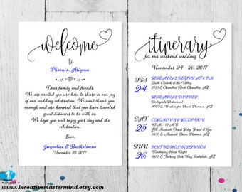 Diy wedding typography welcome bag note welcome bag letter welcome bag note welcome note welcome bag letter wedding itinerary agenda pronofoot35fo Gallery