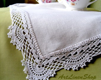 Wedding Tablecloth Knitted Lace Home Decor White Doily Crochet Table Decorations Weding Centerpiece Rustic White Runner Wedding Gift for Her