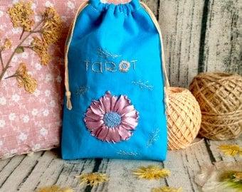 Floral Tarot Bag, Tarot Deck Bag, Thoth Tarot Card Bag, Tarot Card Deck, Tarot Case, Tarot Box, Tarot Cards Case, Tarot Pouch, Tarot Purse