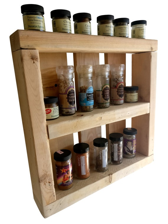 Pallet Wood Spice Rack wall spice rack wooden spice rack