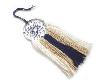 Navy Dream Catcher Khaki Dream Catcher Cream Dream Catcher Beach Dream Catcher Baby Boy Nursery Decor Crib Mobile Yarn Wall Hanging Beach