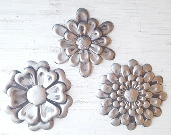 Metal Flowers Wall Decor large metal flower wall art garden flower wall decor metal