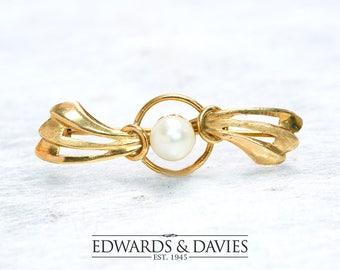 Salt Water Pearl Gold Pin Brooch | Pearl Pin Brooch | Gold Lapel Pin | Antique Jewelry | Antique Jewellery | Antique Brooch | Antique Pin