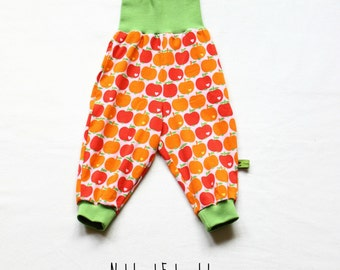 Baby Girl Pants, gender neutral Baby Harem Pants, Baby Girl Clothes, Apple Baby Clothes, Baby Fall Outfit, Baby Christmas Gift