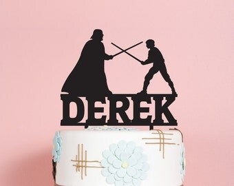 Star Wars with Name Birthday Cake Topper