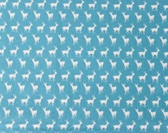 Oh Deer by Momo for Moda Fabrics - Tiny Deer Bright Blue Sky - Sold by the yard