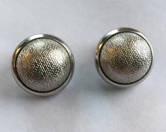 SALE***Vintage 1980's Brand New Looking/ Silver Clip On Earrings