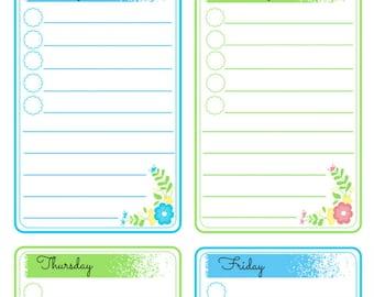 Mom's To Do List One Week Calendar Printable