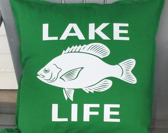 Lake Life-Fish Pillow Cover