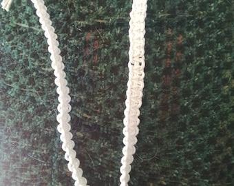 Peace sign hemp cord necklace
