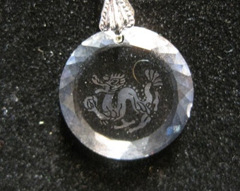 Antique Crystal Dragon Necklace