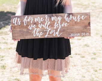 As for me and my house we will serve the Lord | Barnwood sign
