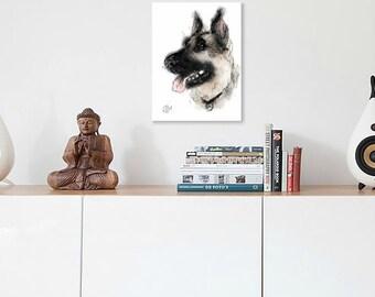 German shepherd print // german shepherd gift // german shepherd portrait // german shepherd painting // police dog painting