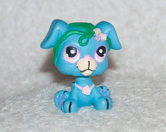 LPS Dog, Custom LPS, LPS Customs, Dog Toy, Toy Dog, Blue Dog, Puppy Toy, Toy Puppy, Miniature Dog, Kids Gift, Easter Gifts, Custom Toy, ooak