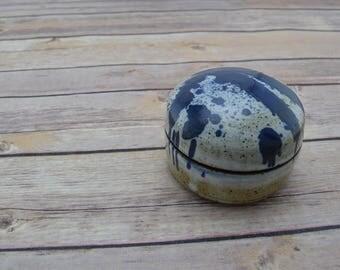 Ceramic Jar with Lid, Lidded Piece, Storage Container, Trinket Jar, Art Piece: Two of Six