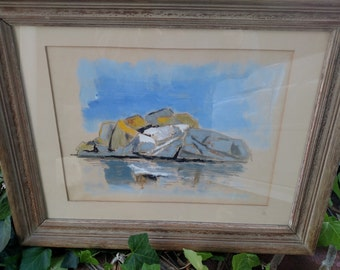 Artwork by Walter Bohanan//Early 20th century artist//Mountain artwork framed//Oil Paintings//Home Decor//Famous Artist
