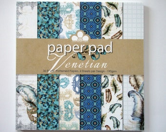 """Venetian paper pad from Craftwork Cards - 36 8"""" by 8"""" patterned papers"""