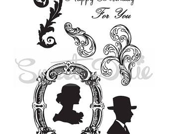 Sweet Dixie - Flourishes Frames Clear Stamps
