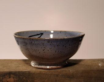 Stoneware blue bowl