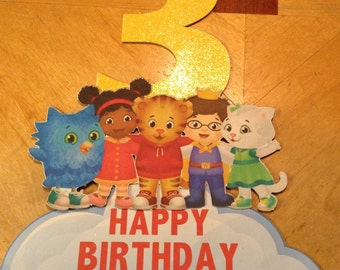 Daniel Tiger and Friends Cake Topper