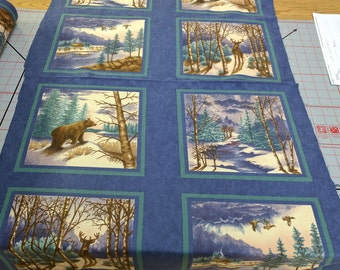 Winter Forest Flannels Panel designed by Holly Taylor for Moda Fabrics