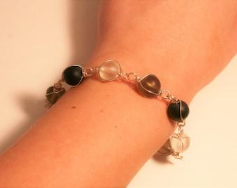 Sea Glass Wire Bracelet