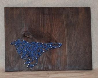 Blue Bird String Art Wall Decor Primitive Rustic Decor