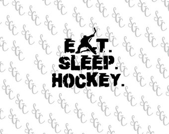 Reusable Stencil - Eat Sleep Hockey - Many Sizes to Choose from!
