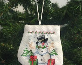 Snowman Mitten Ornament