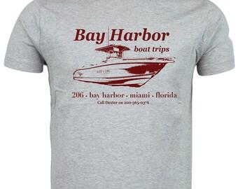 DEXTER - Bay Harbor Boat Trips Design - Best Seller - T-shirt - Hit TV Show Inspired - Hand Screen Printed
