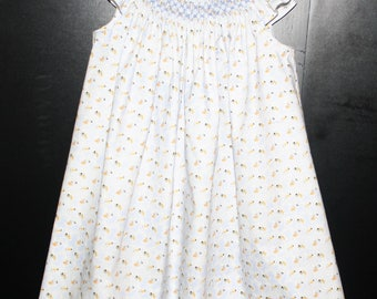 Handsmocked bee dress size,  24 months