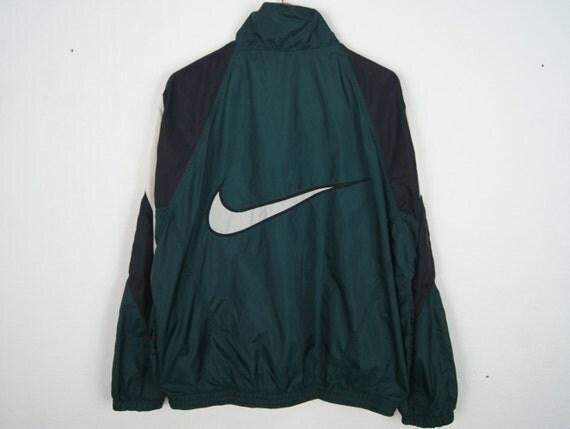 Vintage Nike Big Swoosh Windbreaker Jacket With Hoodie M L