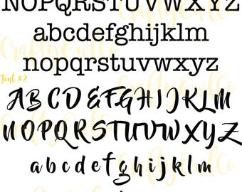 Name font preview, alphabet preview, NOT FOR PURCHASE, fonts for Name stickers, fonts for names