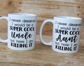 Cool Aunt// Cool Uncle// Coffee Mug// Aunt// Uncle// Gift Ideas// Custom Mug// Personalized Mug
