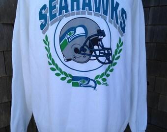 Vintage 90s SEATTLE SEAHAWKS Sweatshirt - Large