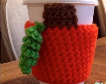 Pumpkin Coffee Cozy - Coffee Sleeve - Crochet Handmade to Order