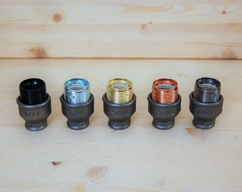 "Kit socket E27 fittings 20 / 27mm (3/4 "") for DIY plumbing fixture"