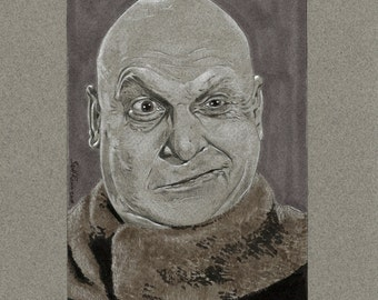 """Jackie Coogan as Uncle Fester from the TV Series The Addams Family - 8"""" x 10"""" Signed Print"""